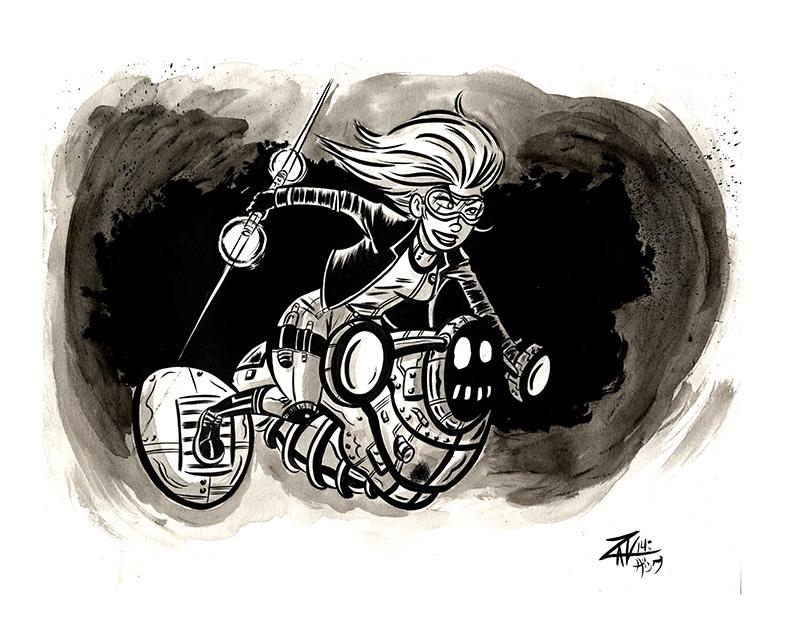 Space Bike by spicypeanut
