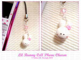 Lil Bunny Cell Phone Charm by ChocoAng3l