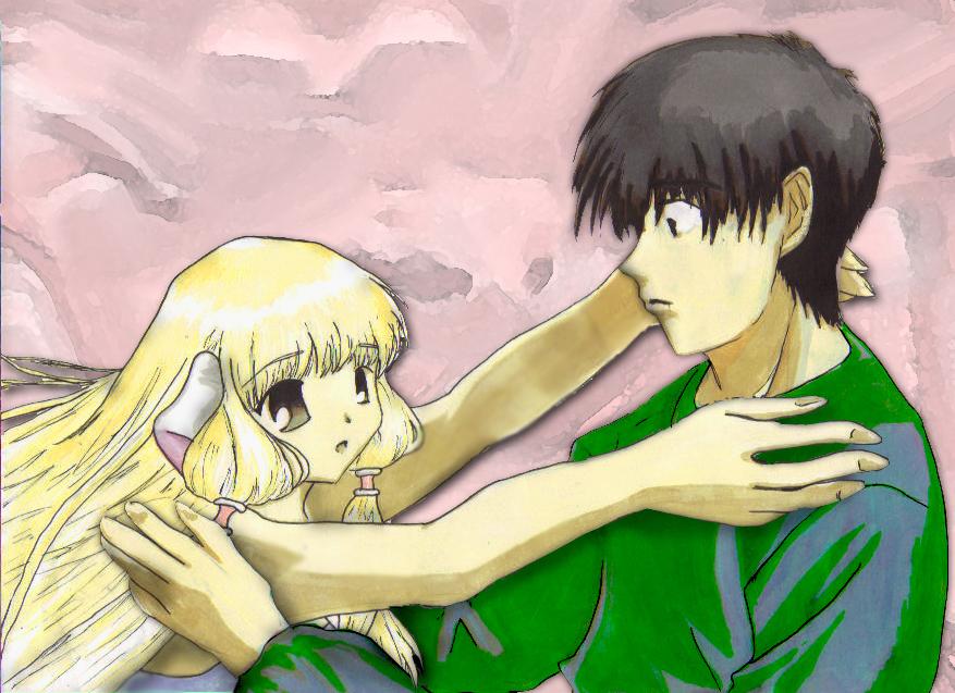 Chii and Hideki hug by Raygunwilldance4hugz on deviantART