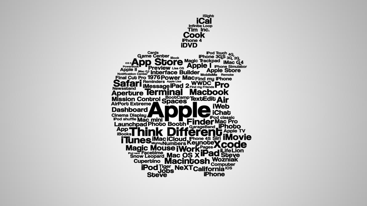 Apple Typographic Wallpaper by niclas3105 on DeviantArt