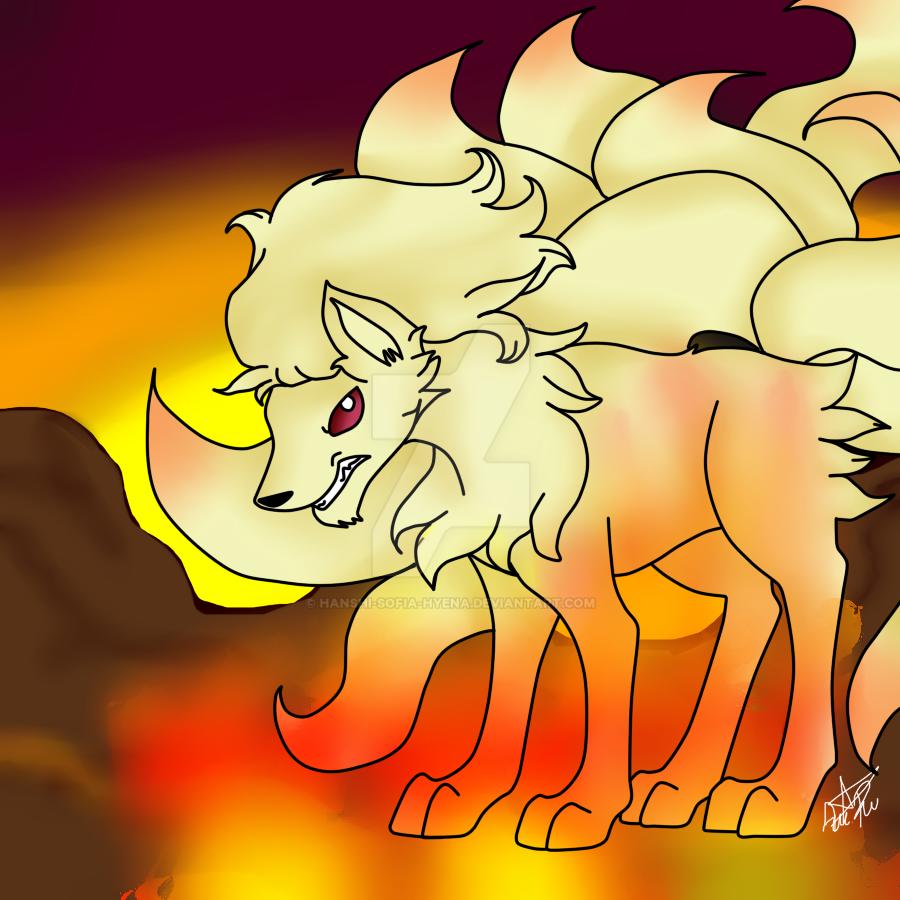 pokemon-Ninetales by hanshi-sofia-hyena