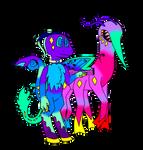 Buggo Snek and Buggo Horse by RikiAuraFlower