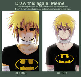 Before and After meme : Raven by Bakaiiko