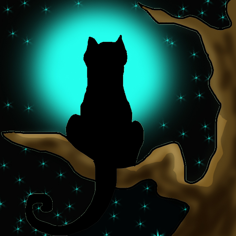 Love Cats Moon Moon Cat by Redmayer