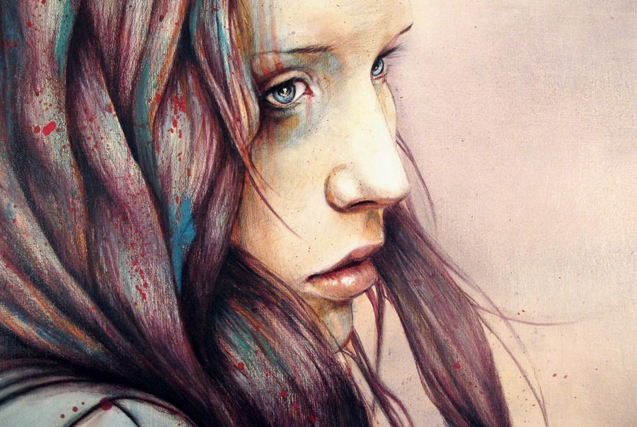 """""""The Girl and the Owl"""" Detail by MichaelShapcott"""