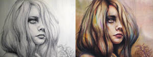 Reverie Sketch vs Painting
