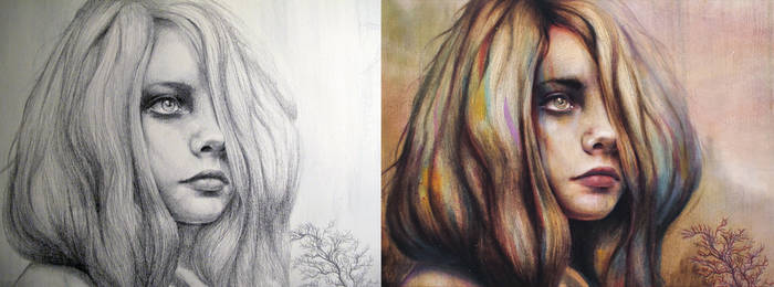 Reverie Sketch vs Painting