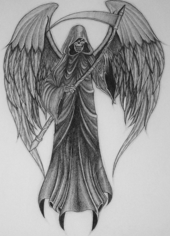 Grim Reaper With Wings Drawing Wwwimgarcadecom Online Image