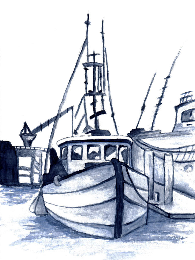 Old fishing boat by hindorf on deviantart for How to draw a fishing boat