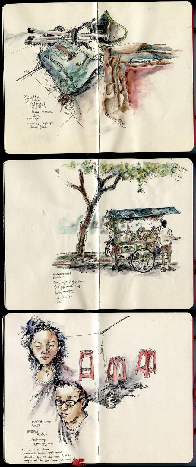 Kemang Pratama sketches by albakaziy