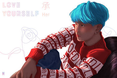 Suga-Love Yourself by downtheartsyhollow