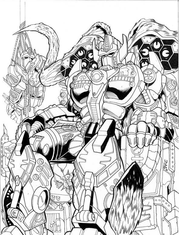 Nemesis Prime inks by Inker-guy