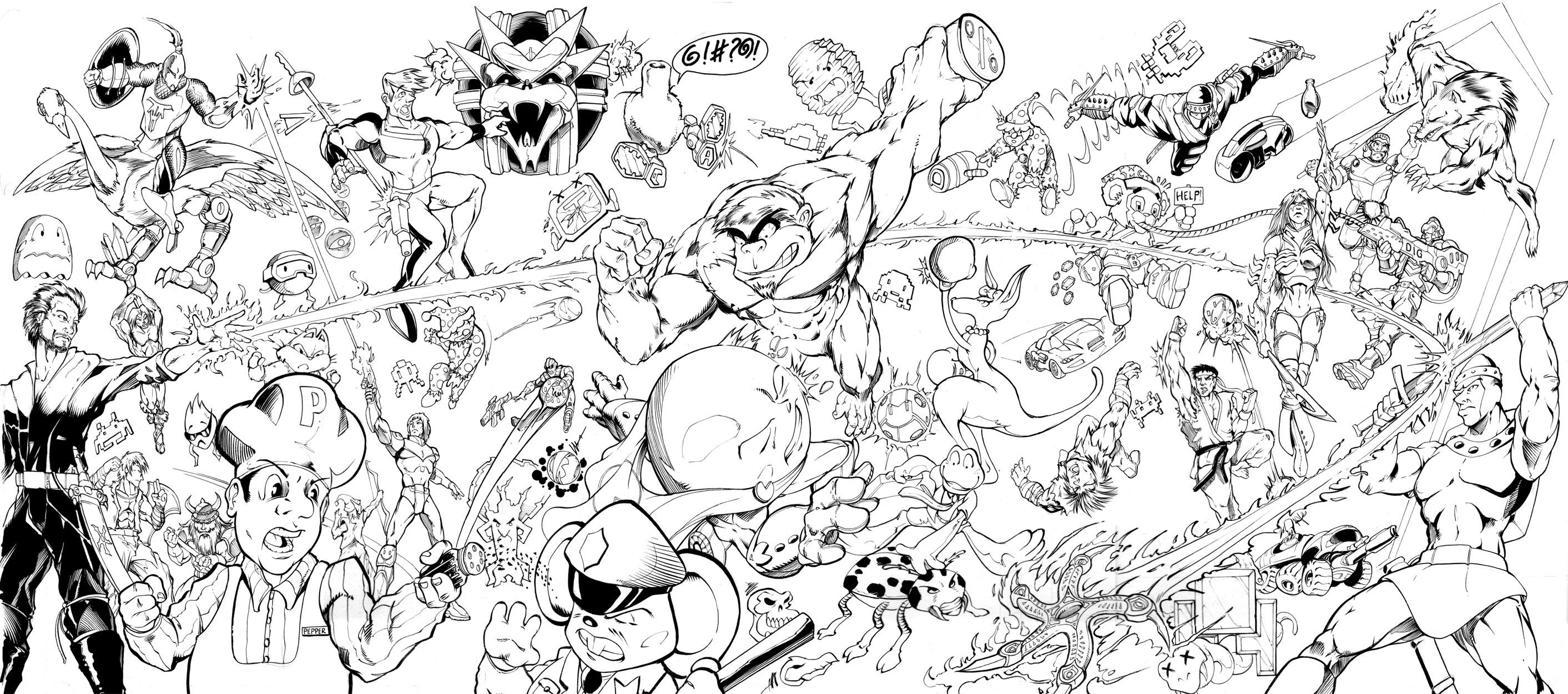 Super smash bros the 80s by inker guy on deviantart for Super smash bros brawl coloring pages