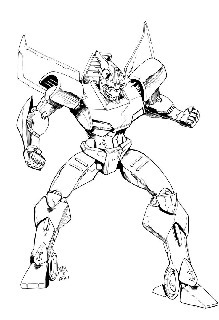 Transtech prowl by inker guy on deviantart for Transformers coloring pages starscream