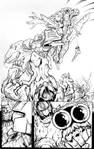 Beast Wars page 6 inks