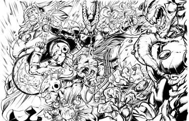 DBZ Villain ink by Inker-guy