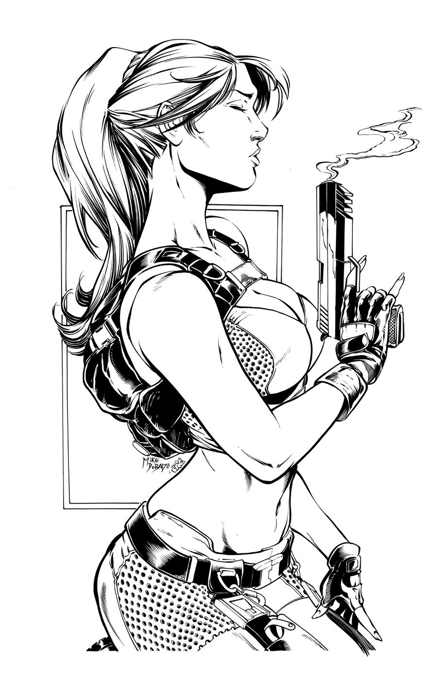 Lara Croft ink by Inker-guy