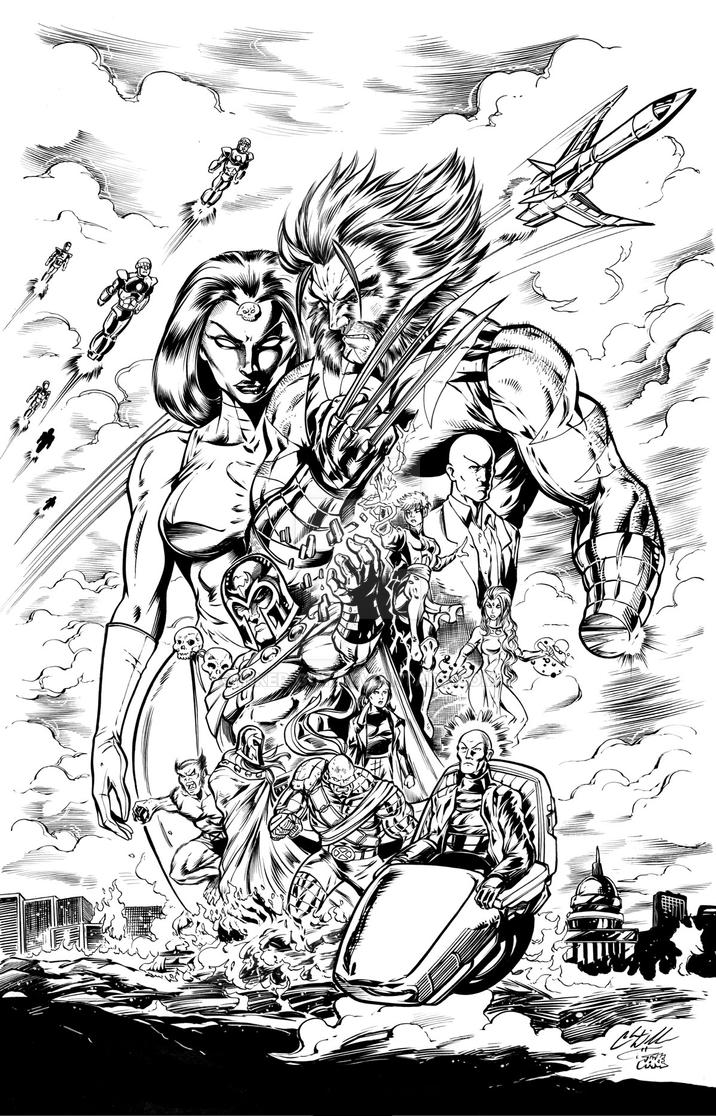 Days of Future Past Redux ink by Inker-guy