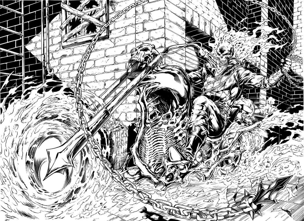 Ghost rider by inker guy on deviantart - Coloriage ghost rider ...