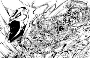 Spawn and friends by Inker-guy