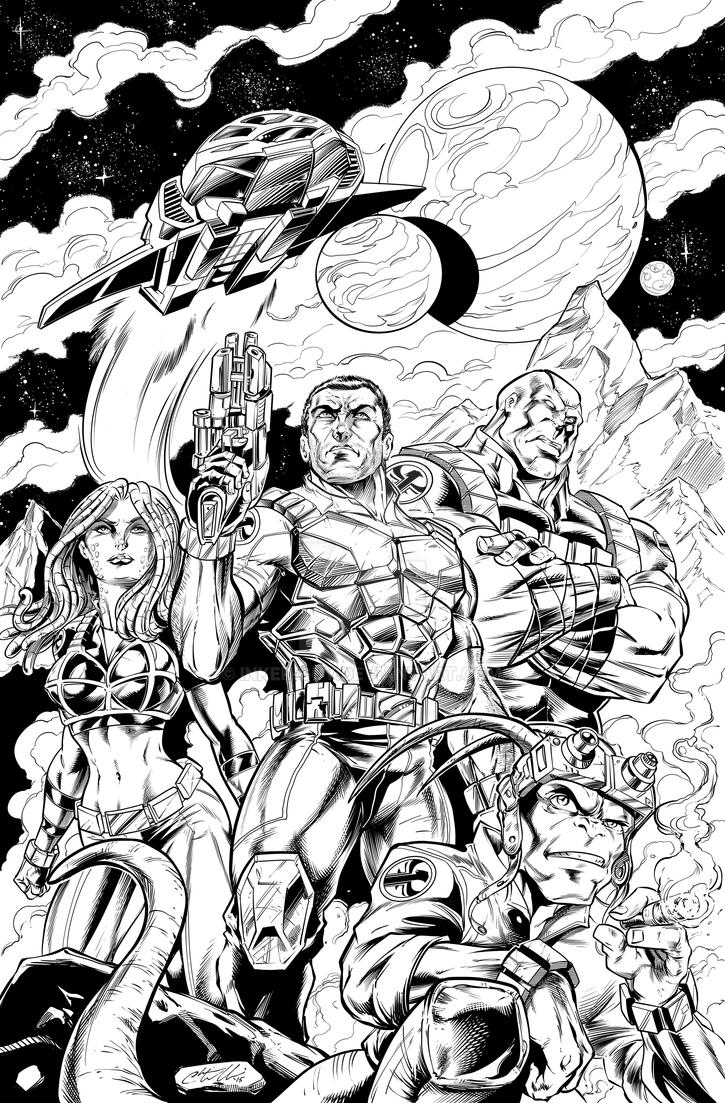 Salvagers pinup by Inker-guy