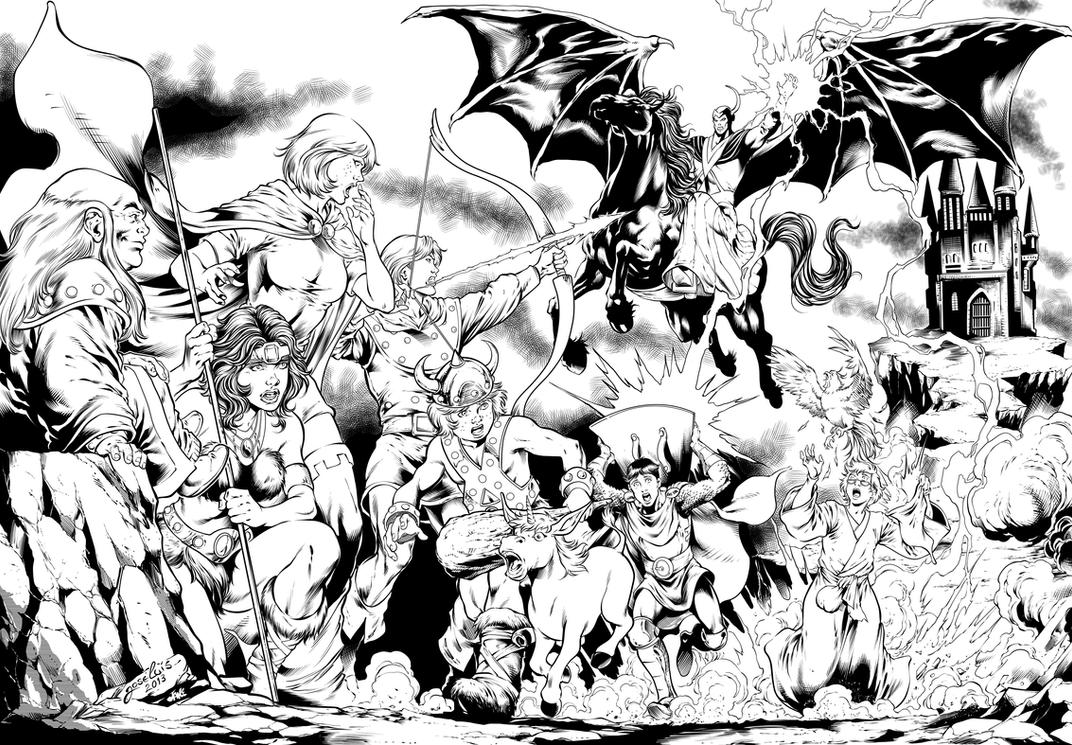 Dungeons and Dragons by Inker-guy