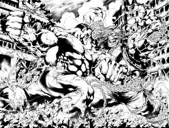 Hulk Vs Pitt by Inker-guy