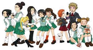 Naruto boys as school girls
