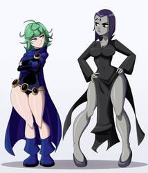 Raven and Tatsumaki swap outfits