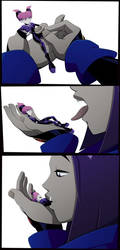 Raven mouthplay by JustAnotherRavenFan