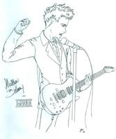 Matt Bellamy Uncolored by Isensmith