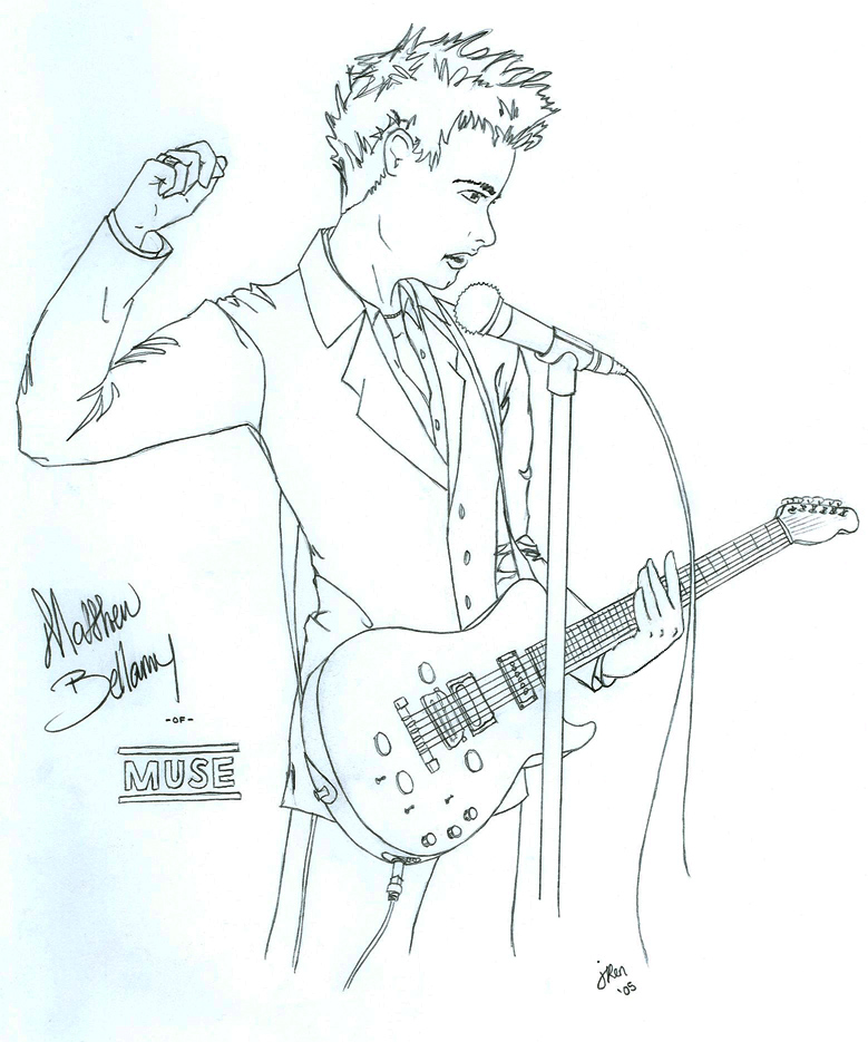 Matt Bellamy Uncolored