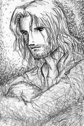 Thinking of Arwen by nekomimipii