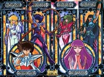Saint Seiya Art Crystal Puzzle by nekomimipii