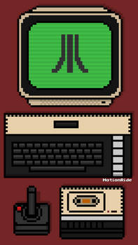Atari 800XL Pixel Mobile Wallpaper