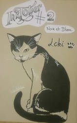 Inktober #2 : Black'n White by Waitikka