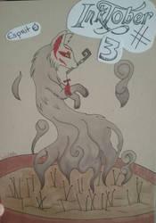 Inktober #3 : spirit by Waitikka