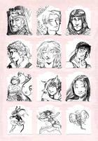 More Pen Sketches by Plotholetsi