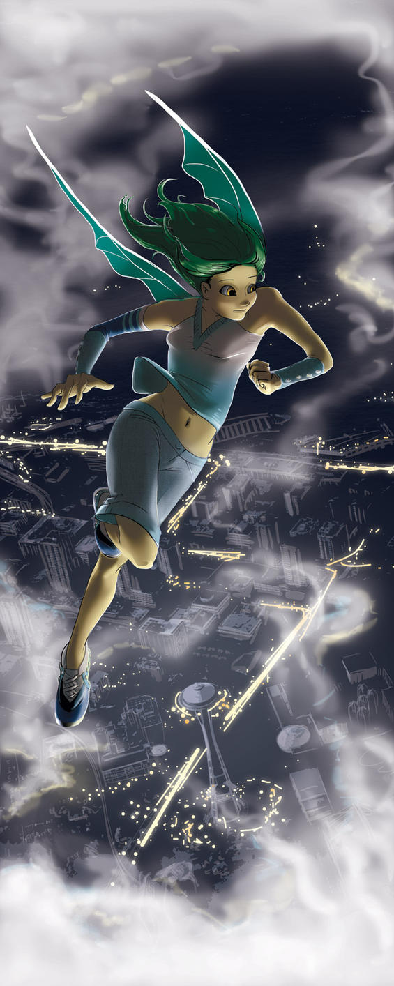 Michelle Over the City by Plotholetsi