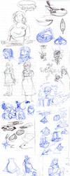 Sketch Dump 2012 No 1 by Plotholetsi