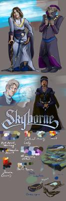 Skyborne color sketches/ concepting