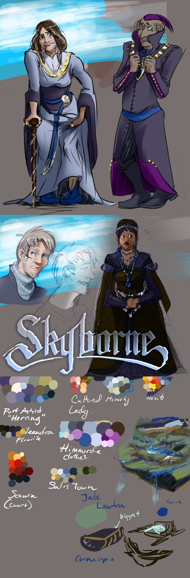 Skyborne color sketches/ concepting by Plotholetsi