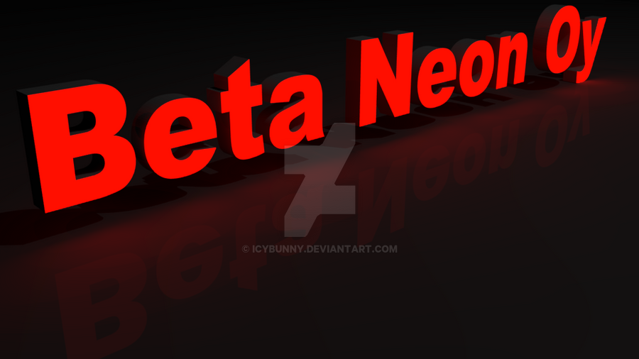 Neon Sign of Beta Neon Oy company by IcyBunny