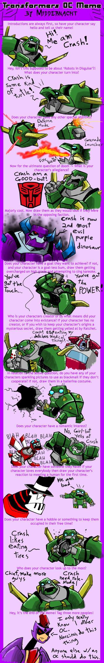 Transformers OC meme: Crash by chief-orc