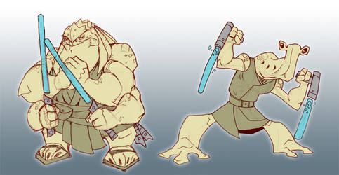 Jedi sketches by chief-orc