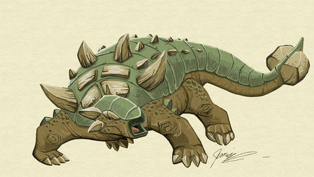 Fresh Paint-Ankylosaurus by chief-orc