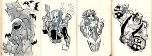 Moleskine: Gotham baddies
