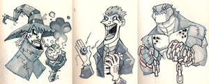Moleskine: More Gotham Baddies