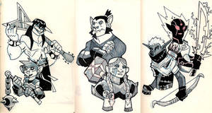 Moleskine: Dungeons and Dragons group 1