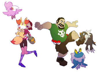 XY Trainers by chief-orc